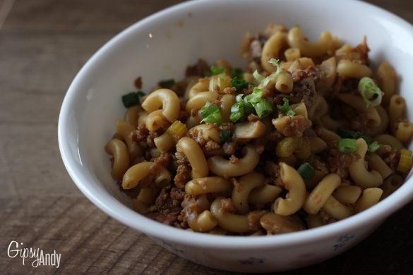 Macaronis Chinois Végan