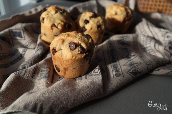 Muffins aux pépites de chocolat vegan